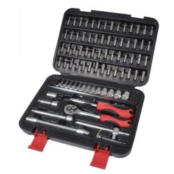 Tech Craft Box Spanner Set 79-Piece 1/4 ""
