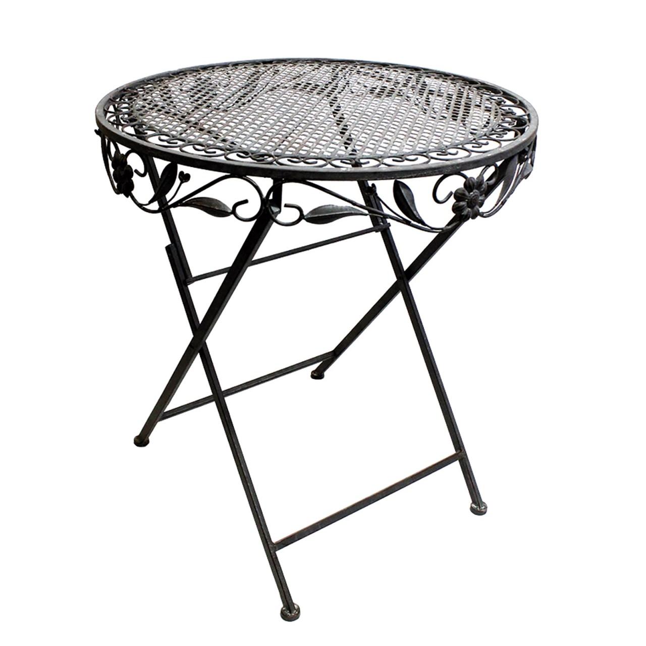 Lex terrazze Set in ferro composto da 1 tavolo e 2 Sedie In Grigio Antico