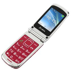 OLYMPIA Style Plus Red Senior Comfort Mobile Phone with big buttons