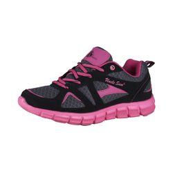 UNCLE SAM Damen Leichtlaufschuhe, Schwarz/Pink