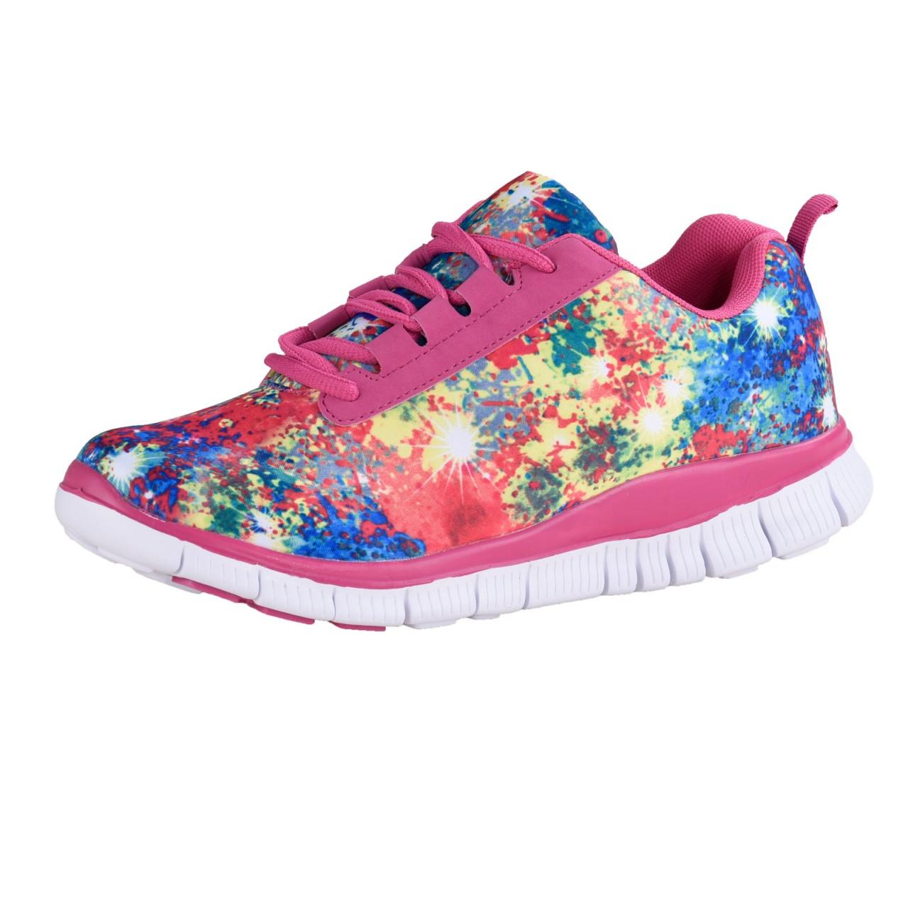 ACTION ACTIVITY Damen Seamless Leichtlauf Schuh, Pink/Multi