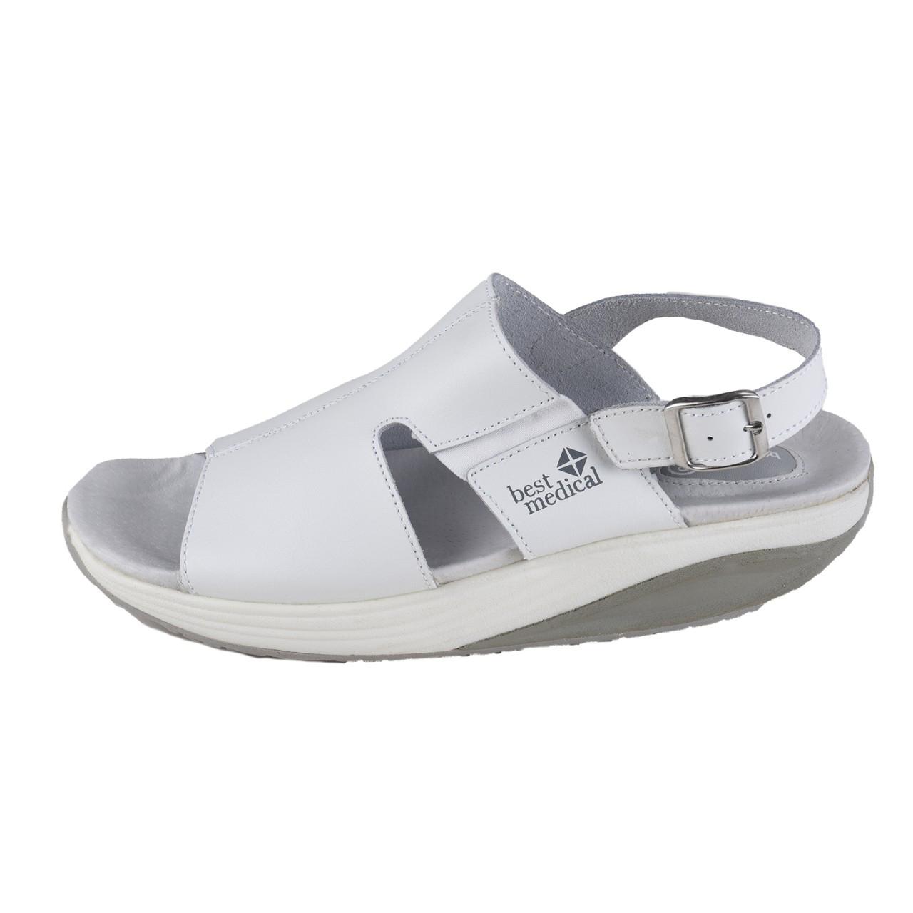 BEST MEDICAL Damen Berufsschuh Sandale, Weiß – Bild 2 c3638a6637