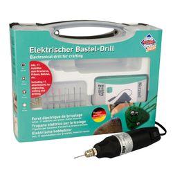 PEBARO Elektrischer Bastel-Drill im Koffer, verschiedene Aufsätze