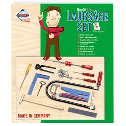 PEBARO 108P Laubsägeset mit Kunststoffbrettchen, Drillbohrer und Werkzeug