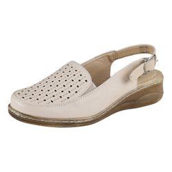 LISANNE COMFORT Klassische Damen Sandale, Creme