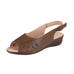 BETTY MAY Damen Bequem Sandale, Braun