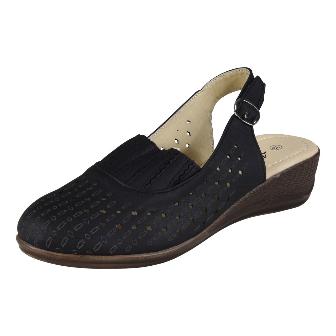 lisanne comfort damen sling sandale schwarz. Black Bedroom Furniture Sets. Home Design Ideas