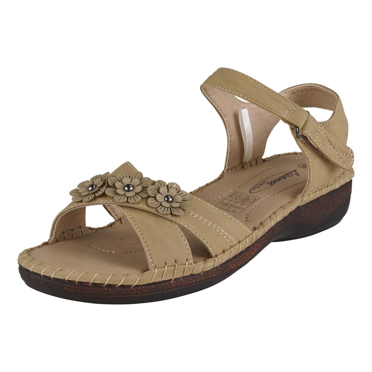 lisanne comfort damen sandale beige. Black Bedroom Furniture Sets. Home Design Ideas