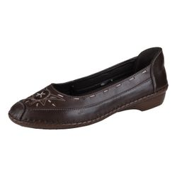 Lisanne Comfort Women's Ballerina Dark Brown