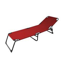 LEX 3-Bein Gartenliege in Rot