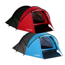 Tent for 3 persons in red or blue