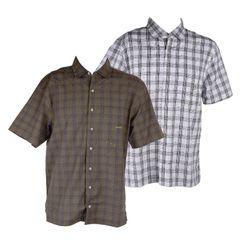 MAUI Sports Herren Beach Hemd, Dunkelgrün oder Weiß mit Rücken Print