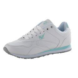 PLATINUM Damen Sneaker, Weiß/Hellblau