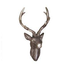 LEX Deko Hirschgeweih 20 x 12 x 30 cm, Bronze