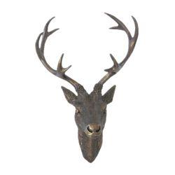 LEX Deko Hirschgeweih 30 x 18 x 40 cm, Bronze