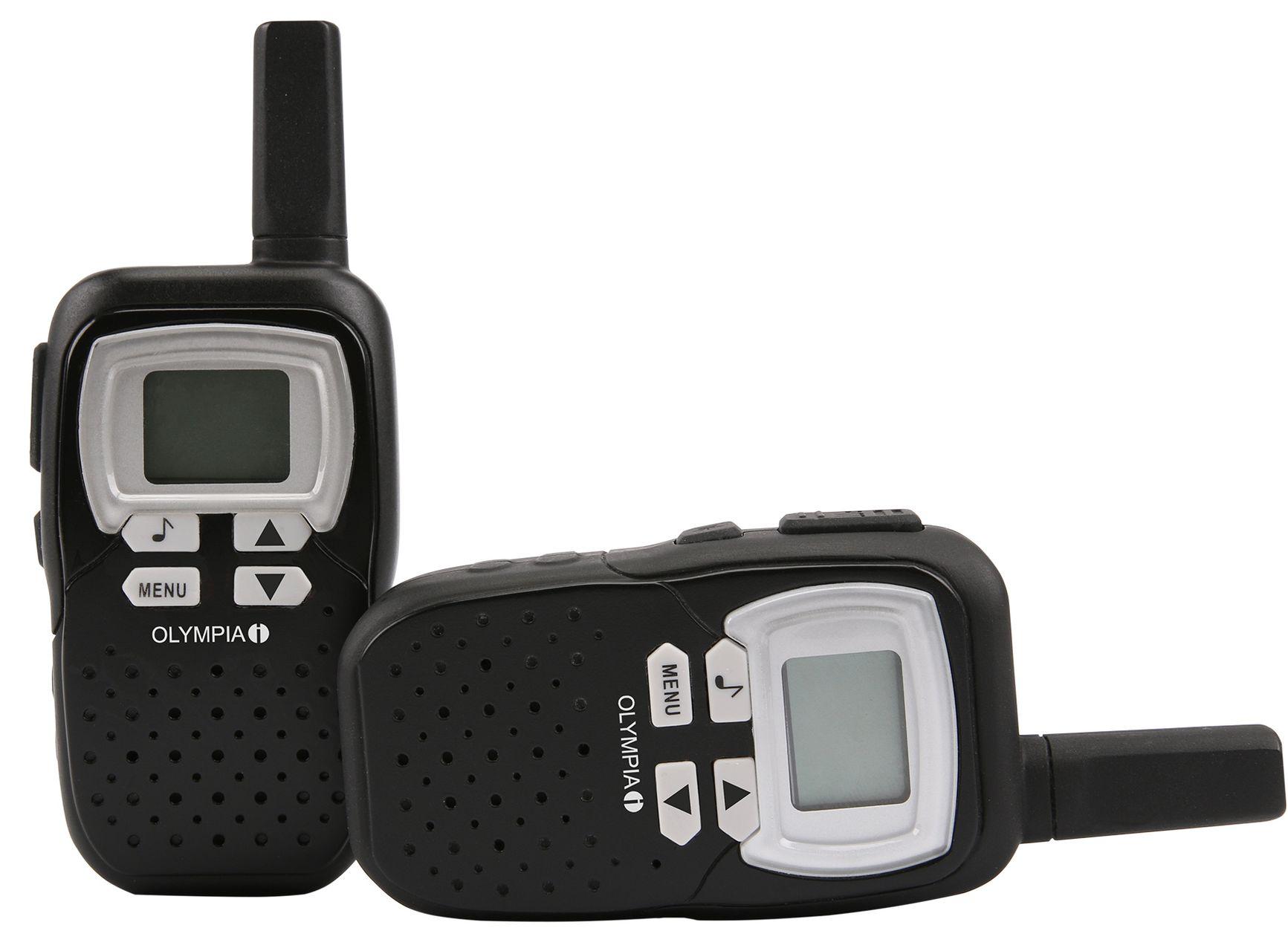 olympia pmr 1208 walkie talkie 8 km reichweite schwarz. Black Bedroom Furniture Sets. Home Design Ideas