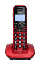 OLYMPIA DECT 5000 Schnurloses ECO-Mode DECT Telefon, Rot