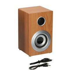 SOUNDLOGIC Bluetooth Lautsprecher Holzdesign, Natur