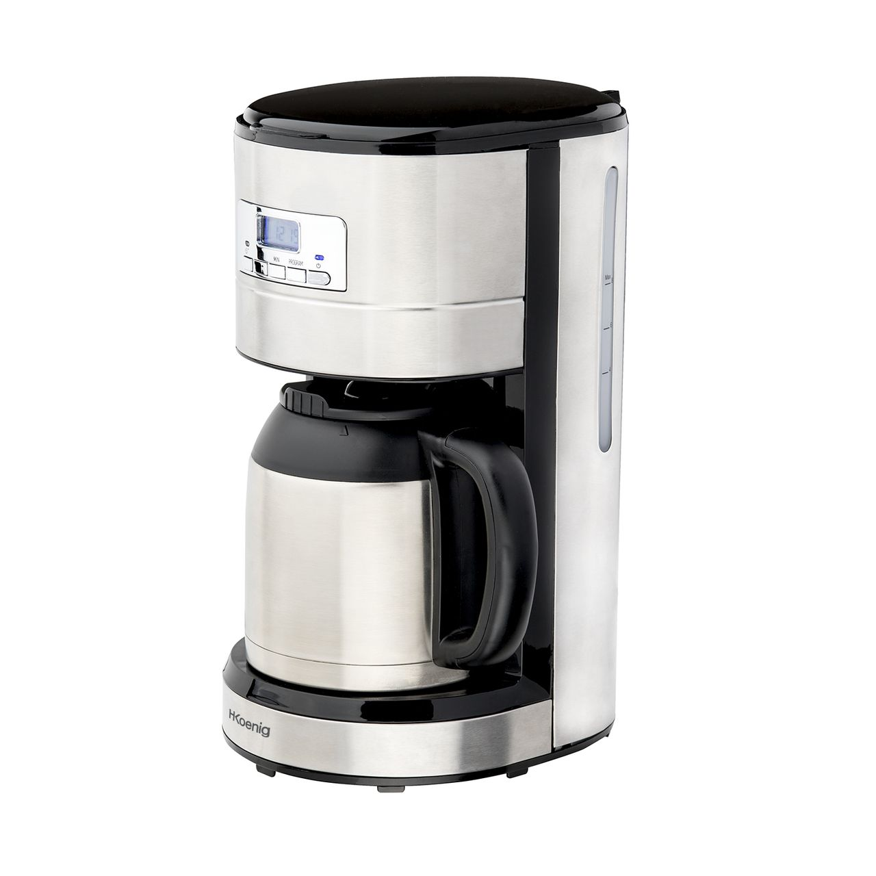 h koenig filter coffee maker programmable 1 2 l keep warm. Black Bedroom Furniture Sets. Home Design Ideas