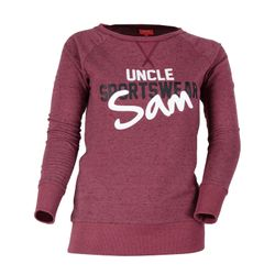 SAM Damen Langarm Shirt, Ruby Wine Melange
