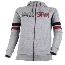 Sam ! by Uncle Sam Femmes Veste à capuche, mélange gris