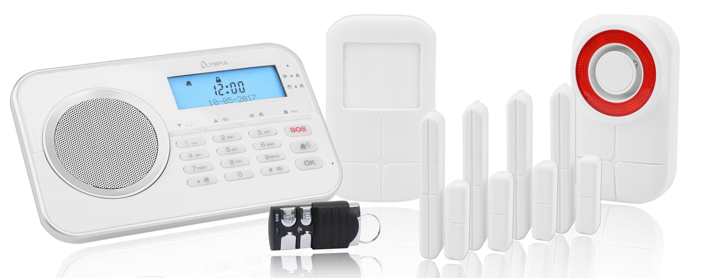Olympia Protect 9761 GSM Haus Alarmanlage Funk Alarmanlagen Set mit App