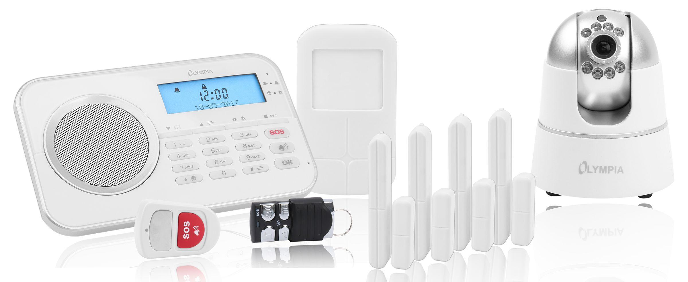 olympia protect 9881 gsm haus alarmanlage funk alarmsystem. Black Bedroom Furniture Sets. Home Design Ideas