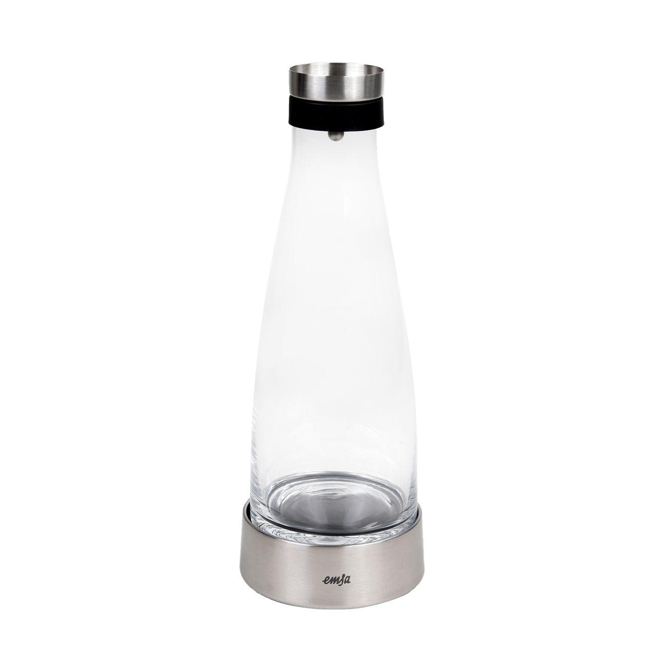 EMSA Flow Bottle Kühlkaraffe 1,0 L Glas/Edelstahl