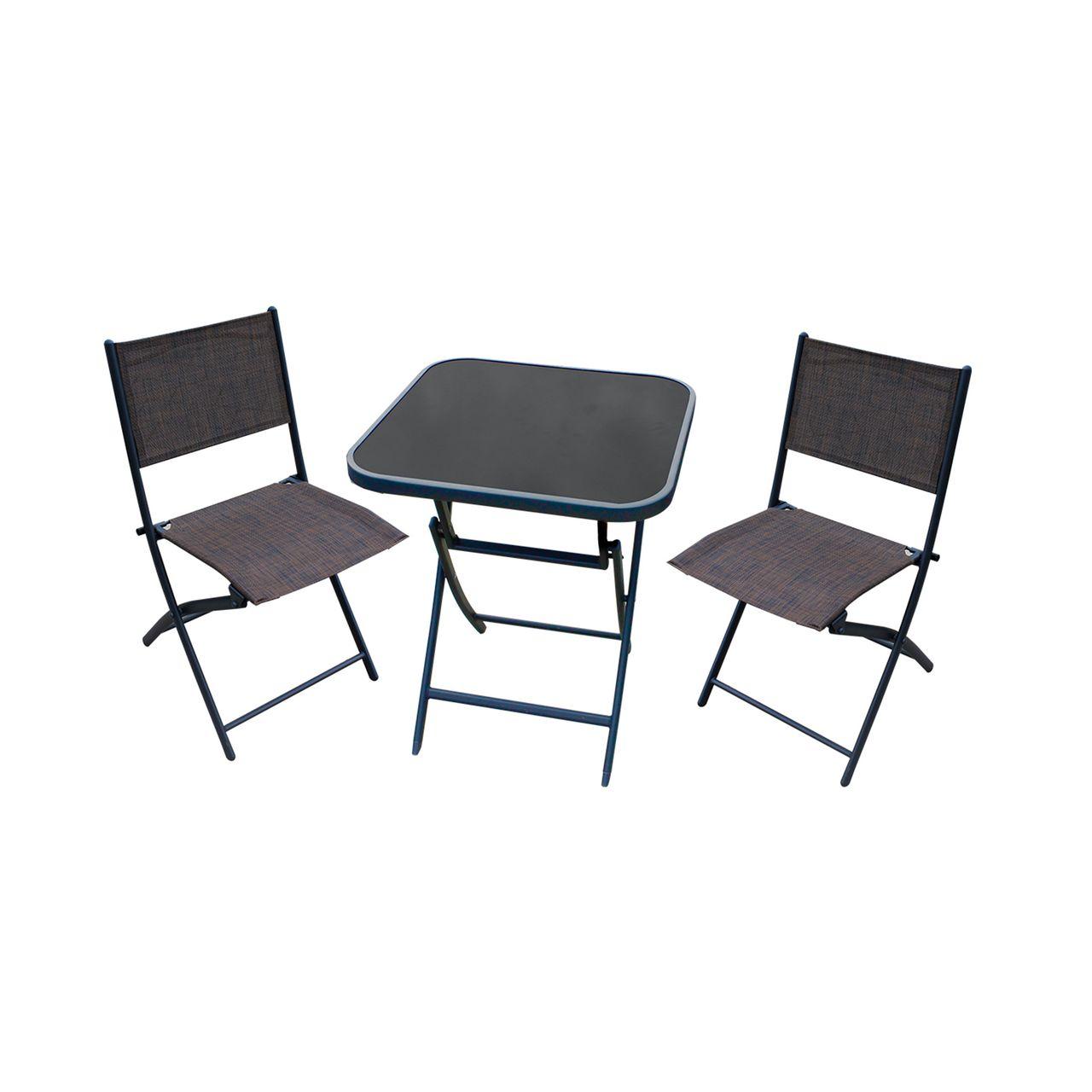 Bistro 3er Set (1 Tisch, 2 Stühle)