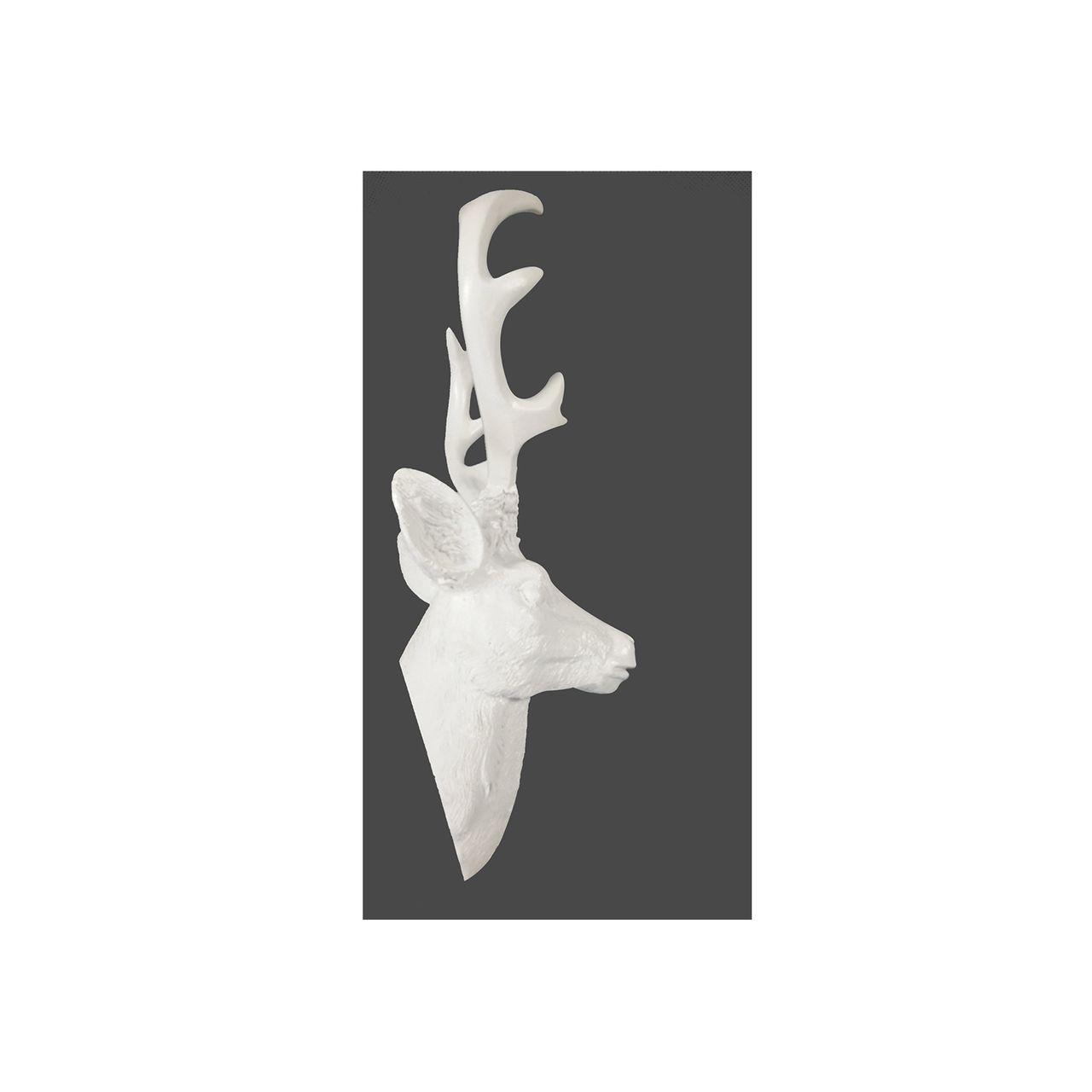 hirsch geweih 10 ender in wei hirschkopf wand deko jagd geweih 30 x 40 cm ebay. Black Bedroom Furniture Sets. Home Design Ideas
