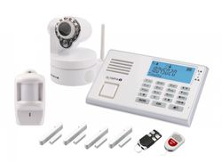 B-WARE OLYMPIA Drahtloses GSM-Alarmanlagen-Set 9081 mit IP-Camera