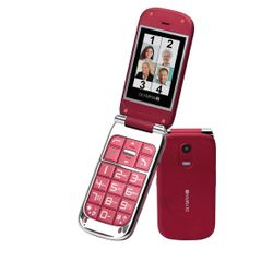 OLYMPIA Becco Plus - Mobile Phone with Big Buttons in Red