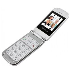 OLYMPIA Becco Plus - Mobile Phone with Big Buttons in Silver