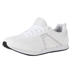 BETTY MAY Damen Fashion Sneaker, Weiß