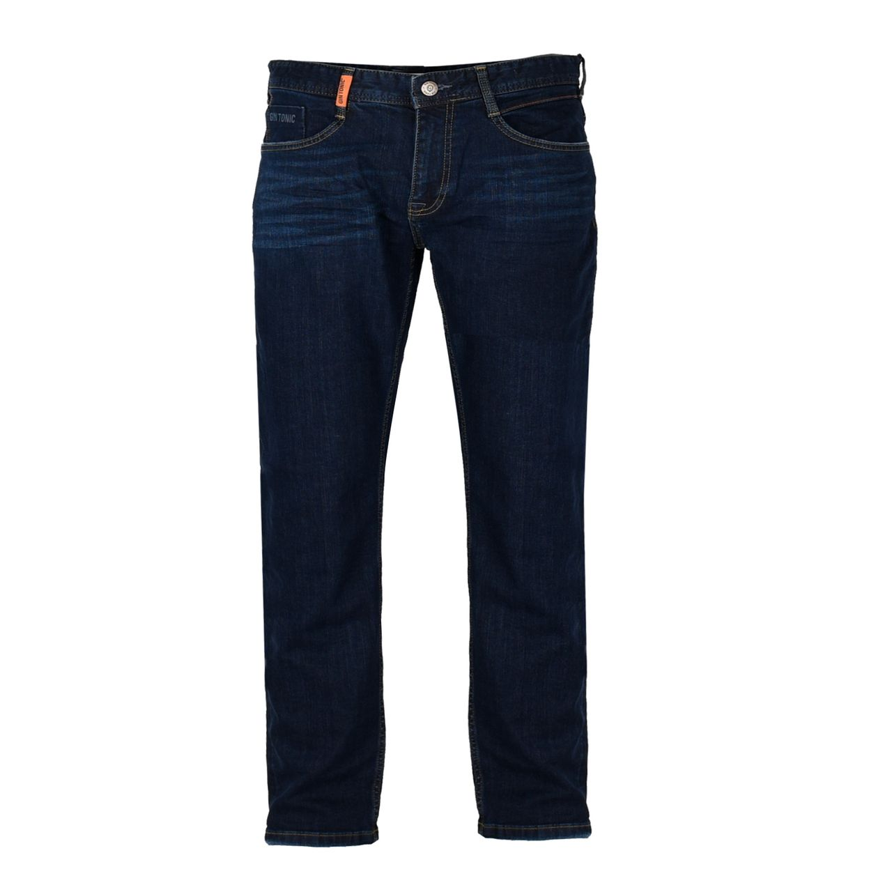 GIN TONIC Herren Straight fit Jeans Raw Blue Wash