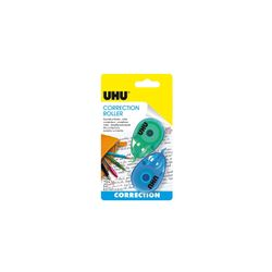 UHU Correction Roller Mini COLOR, 2 x Bunter Mini Korrekturroller, 6 m x 4,2 mm