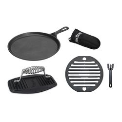 JIM BEAM Gusseisernes Grillrost 5-in-1 Set