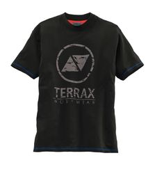 TERRAX WORKWEAR Herren T-Shirt, Schwarz/Royal