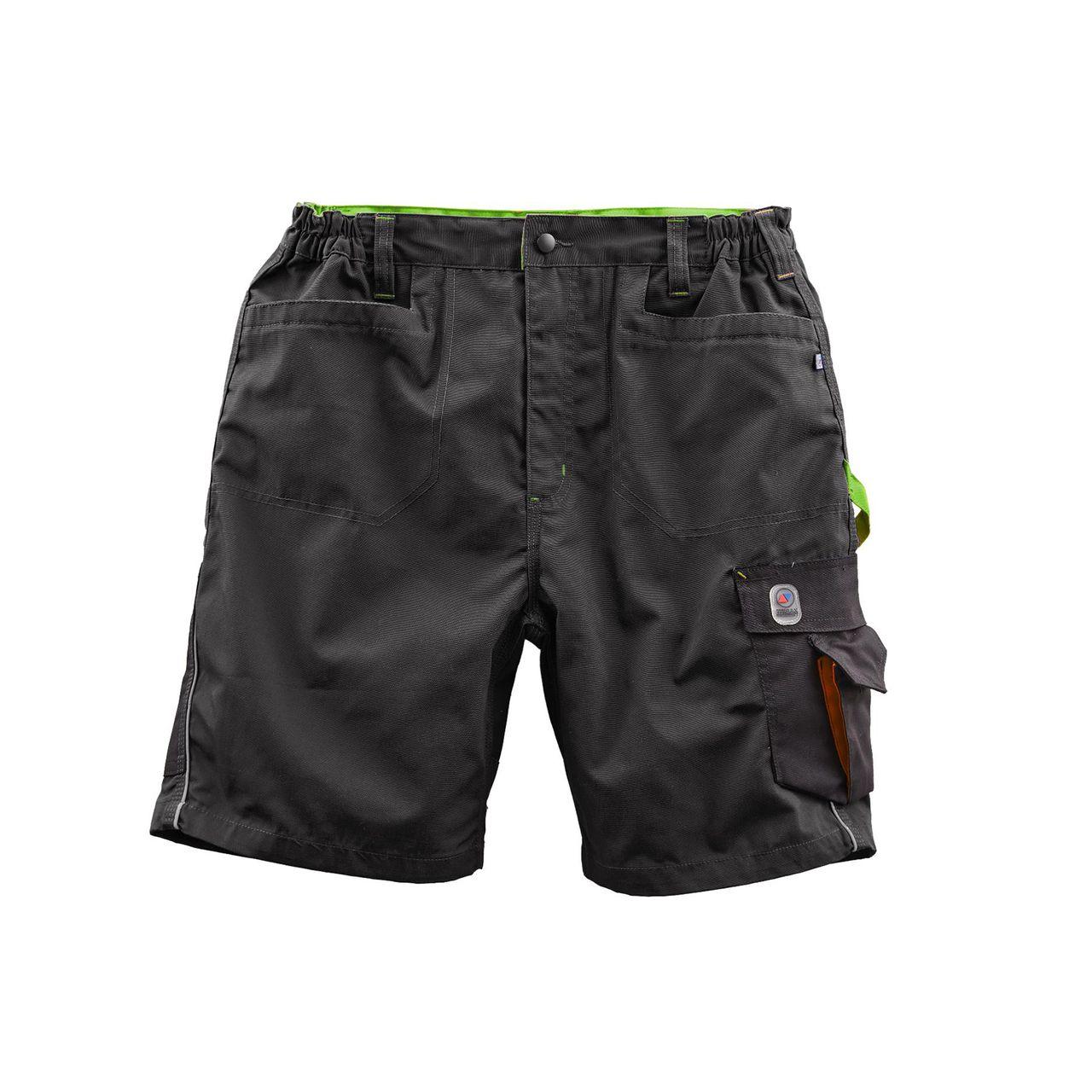 TERRAX WORKWEAR Herren Shorts, Schwarz/Limette