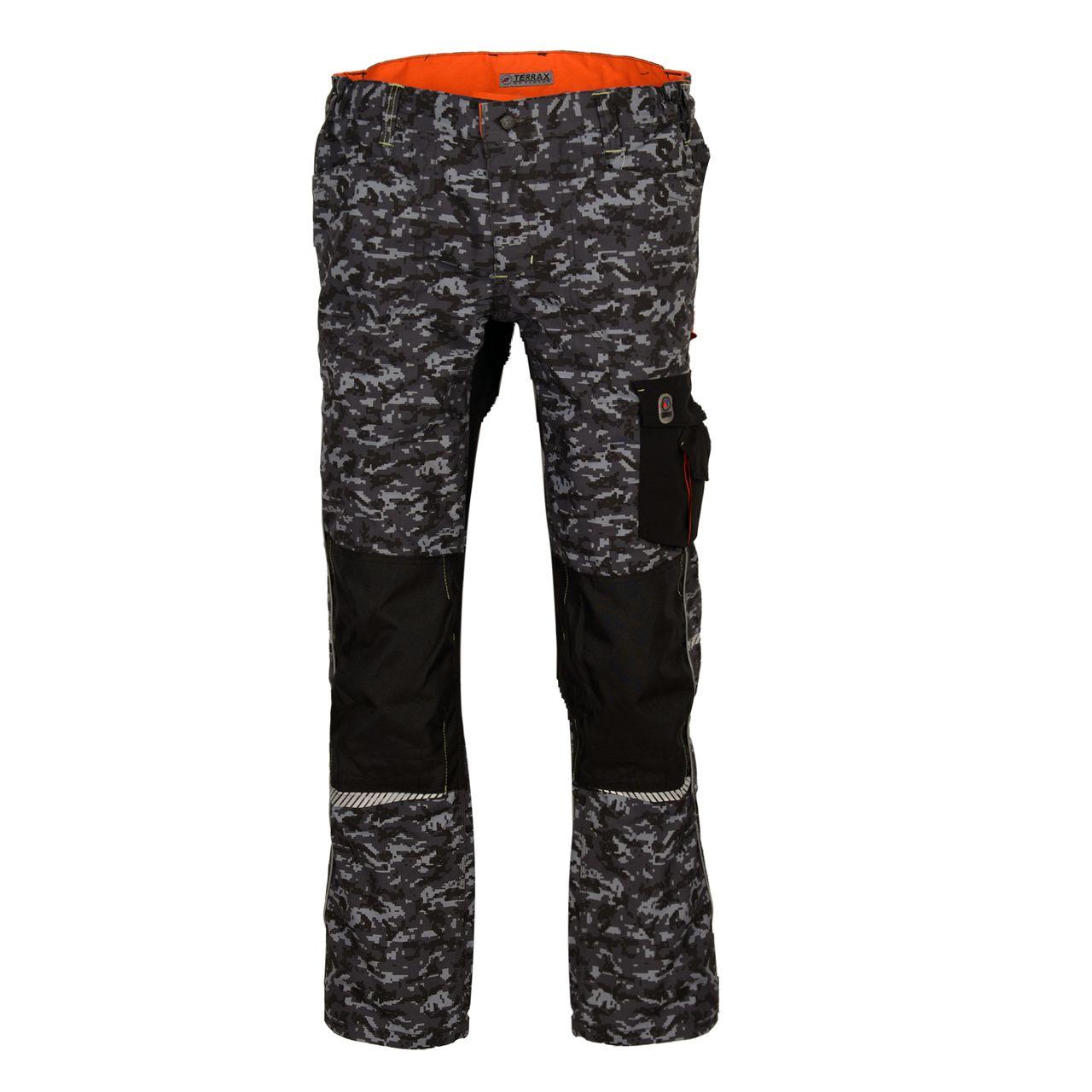 TERRAX WORKWEAR Herren Arbeitshose  Bundhose, Camouflage, Grau
