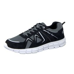 UNCLE SAM men's lightweight shoe running shoe 3M-Reflektor black/grey