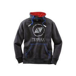 TERRAX WORKWEAR Herren Sweatshirt, Schwarz/Royal