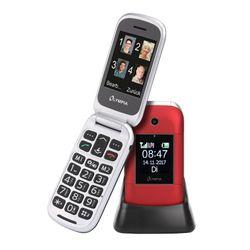 OLYMPIA Janus Senioren Mobiltelefon, große Tasten und Farbdisplay, Rot