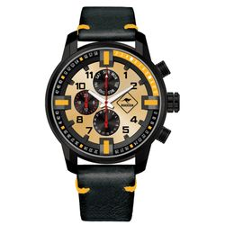 ROADSIGN Chronograph Darwin R12032 Herrenuhr, Metall, Orange