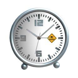 Roadsign Townsville Horloge de Table avec Fonction Alarme, Blanc
