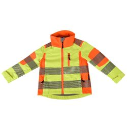 TERRATREND JOB Revolution Kinder-Softshelljacke, Gelb, Orange