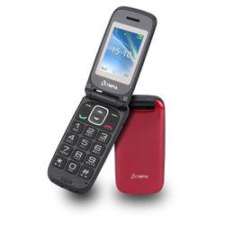 OLYMPIA Classic Mini II Senioren Mobiltelefon, große Tasten, Rot