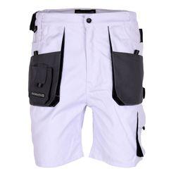 TERRATREND JOB Herren Arbeitshose Shorts, Weiß, Grau