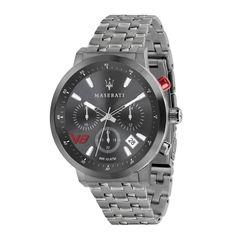MASERATI Herren Armbanduhr GT 44 mm Edelstahl Grau
