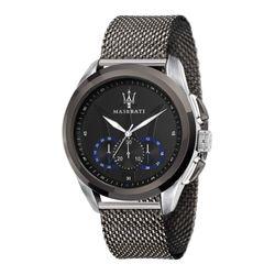 MASERATI TRAGUARDO Armbanduhr Milanaiseband 45 mm Edelstahl Schwarz